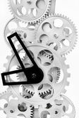Parte degli ingranaggi di un orologio meccanico — Foto Stock
