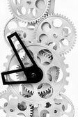 Partie des engrenages dans une horloge mécanique — Photo
