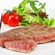 Stock Photo: Beef steak with vegetables