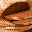 Traditional bread on sacking. - Stockfoto