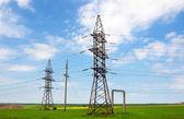 Tendido eléctrico eléctrico. líneas eléctricas — Foto de Stock