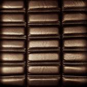 Arka plan kahverengi deri döşeme — Stok fotoğraf