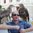 Stock Photo: OdessAugust 24: msells photo opportunity with wild eagl