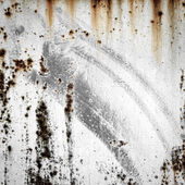 Grunge background of old metal with traces of rust and paint — Stock Photo