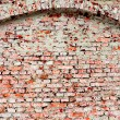 Old red brick wall texture background - Foto Stock