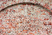 Old red brick wall texture background — Stock Photo