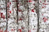 Eski ahşap çit reklamları temizlik — Stok fotoğraf