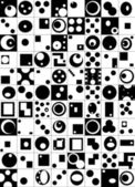 Abstract elements built in the square, black and white — Stock Photo