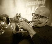 ODESSA, UKRAINE - JUNE 5: trumpeter Roberto Garcia (Cuba, Havana — Foto de Stock