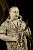 ODESSA, UKRAINE - JUNE 5: saxophonist Oleg Subbotin (Ukraine) pe — Stock Photo