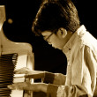 ODESSA, UKRAINE - JUNE 5: The pianist Joey Alexander Sila (Indon — Stock Photo