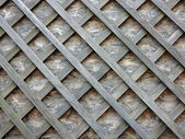 Stud wall with wooden slats on the diagonal — Stock Photo