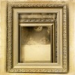 Picture frames and antiques to vintage background — Stock Photo