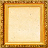 Vintage background old frame, gold leaf — Stock Photo