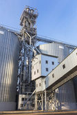 Row of granaries for storing wheat and other cereal grains — Stock Photo