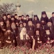 ODESSA, UKRAINE, circa 1950 - Vintage photos of high priests of — Stock Photo