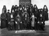 ODESSA, UKRAINE, circa 1950 - Vintage photos of high priests of — Stock Photo
