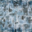 Vintage background on textured fabric in shades of blue — Stock Photo #35707373