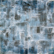 Vintage background on textured fabric in shades of blue — Stock Photo