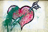 Heart painted — Stockfoto