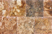 Decorative textured background wall of marble tiles — Stock Photo