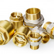 Stock Photo: Plumbing fixtures and piping parts