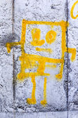 Odessa - MARCH 16: Street art by unidentified artist. Graffiti M — Stock Photo