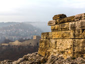 Ruins of an ancient fortress. Veliko Tarnovo, Bulgaria — Stock Photo