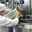 Modern milk factory — Stock Photo #40965135