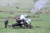 Odessa, Ukraine - May 6: Fragment Reconstruction combat events i — Foto de Stock