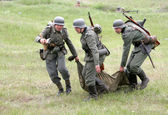 Odessa, Ukraine - May 6: Fragment Reconstruction combat events i — Stock Photo