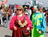 ODESSA, UKRAINE - APRIL 1: people celebrate Humor in Odessa Apri — Stockfoto