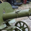 Old Powerful Military machine Gun - Maxim gun — Stock Photo