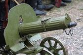 Eski güçlü askeri makineli tüfek - maxim silah — Stok fotoğraf