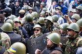 Odessa, ucrânia - 2 de maio de 2014: os trágicos tumultos no centro com — Fotografia Stock