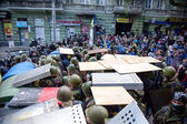 ODESSA, UKRAINE - May 2, 2014 : The tragic riots in downtown com — Stock fotografie