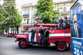 ODESSA, UKRAINE - May 2, 2014 : The tragic riots in downtown com — Stock Photo