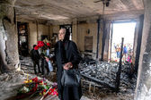 ODESSA, UKRAINE - May 2, 2014 : The tragedy of the burning of th — Stock Photo