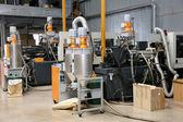 Nowoczesne wnętrza elektroniki składników produkcji, części warehou — Zdjęcie stockowe