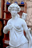 Sculptural Bust classic ancient Amazons women topless and a quiv — Stock Photo