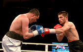Odessa, Ukraine - May 31, 2014: In the boxing ring Mishiko Besel — Stock Photo