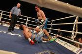 Odessa, Ukraine - May 31, 2014: In the boxing ring Agali Alyshov — Stock Photo