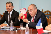 Odessa, Ukraine - June 30, 2010: The French delegation mayor and — Stock Photo