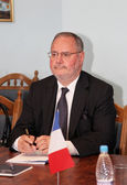Odessa, Ukraine - September 25, 2010: French Ambassador to Ukrai — Stock Photo