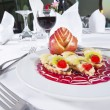 Luxury a la carte fruit salad — Stock Photo
