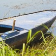 Old wooden boat on a riverbank - Photo