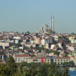 Cityscape over a residential area of Istanbul — Foto Stock