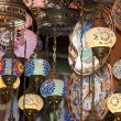 Ornate glass lights at market stall — Lizenzfreies Foto