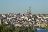 Cityscape over a residential area of Istanbul — Stock Photo