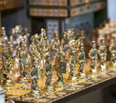 Ornate chess set — Stock Photo